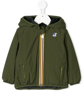 Logo Hooded Rain Jacket by K Way Kids