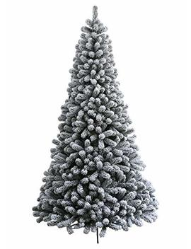 King Of Christmas 7 Foot Prince Flock Artificial Christmas Tree 400 Warm White Led Lights by King Of Christmas