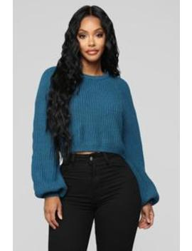 Fuego In Me Sweater   Blue by Fashion Nova