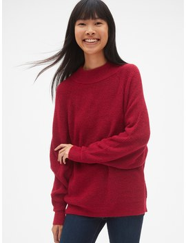 Slouchy Textured Mockneck Pullover Sweater by Gap