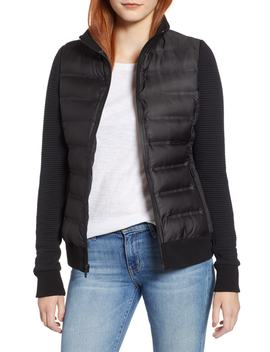 Puffer Jacket With Knit Sleeves by Marc New York