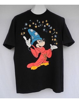 Vtg Walt Disney Mickey Mouse Fantasia Graphic T Shirt Character Fashions Usa by Etsy