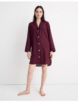 Bedtime Nightshirt In Gingham Check by Madewell
