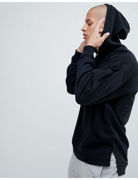 Asos Design Oversized Hoodie With Step Hem In Black by Asos Design