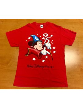 Vintage 1996 Walt Disney World 25th Anniversary T Shirt Mickey Mouse Minnie Donald Duck Goofy Pluto Snow White Little Mermaid Disneyland by Etsy