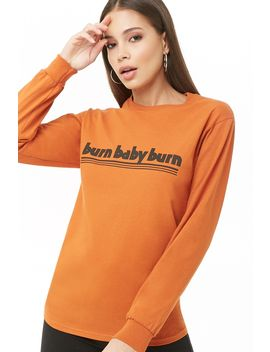 The Style Club Burn Graphic Top by Forever 21