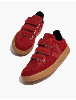 Veja™ V 12 Velcro® Sneakers In Red Suede by Madewell