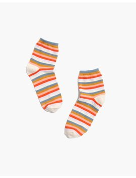 Carousel Stripe Ankle Socks by Madewell