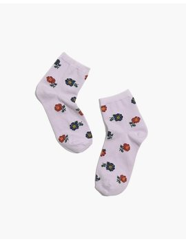 Floating Florets Ankle Socks by Madewell