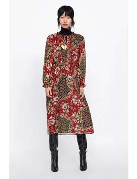 Metallic Thread Printed Dress  New Inwoman by Zara
