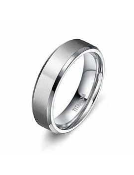 Tigrade 4 Mm/6 Mm/8 Mm/10 Mm Unisex Titanium Wedding Band Rings In Comfort Fit Matte Finish For Men Women by Tigrade