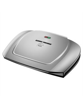 New George Foreman 144  Sq In 9 Serving, Classic Plate Grill &  Panini Press Gr2 by George Foreman Grills