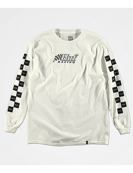 Huf Boys Racing White Long Sleeve T Shirt by Huf
