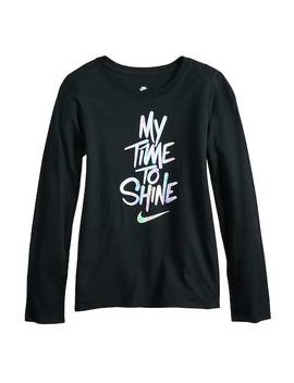 Girls 7 16 Nike Shine Long Sleeve Tee by Kohl's