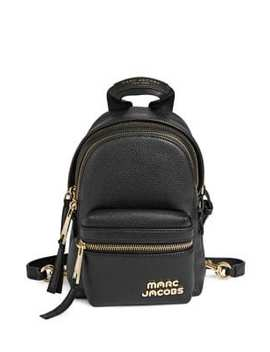 Logo Leather Backpack by Marc Jacobs