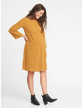 Maternity Rib Knit Bell Sleeve A Line Dress by Old Navy
