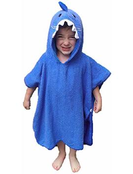 Softest Quick Dry Hooded Kids Shark Towel For Toddler   5 T   All Cotton Gently Snuggles Kids Dry. Get The Towel Moms Love By Hudz Kidz (Blue Shark) by Hudz Kidz