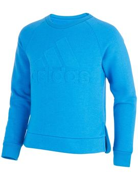 Adidas Girls' Logo Pullover Sweatshirt by Adidas