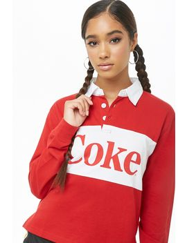 Coke Graphic Henley Top by Forever 21