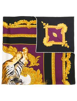 Tiger Print Foulard by Versace