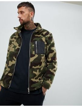 Boohoo Man Borg Jacket In Camo Print by Boohoo Man