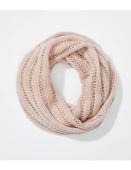 Open Knit Stripe Infinity Scarf by Loft