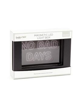 Magnetic Led Light Box No Bad Days   Locker Style by U Brands