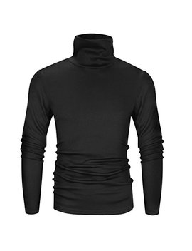 Derminpro Men's Slim Fit Soft Turtleneck Long Sleeve Thermal T Shirt by Derminpro
