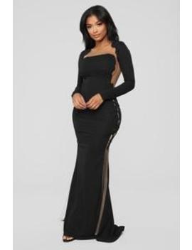 Craving Attention Mermaid Dress   Black by Fashion Nova