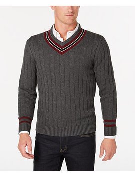 Men's Cricket V Neck Sweater, Created For Macy's by Club Room