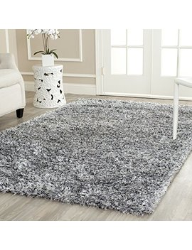 Safavieh Malibu Shag Collection Mls431 S Handmade Silver Polyester Area Rug (8' X 10') by Safavieh