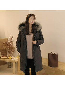Click   Faux Fur Trim Hooded Parka by Click