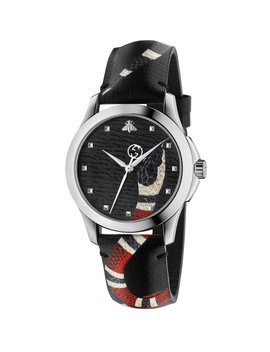 38mm Le Marche Des Merveilles Snake Watch W/ Leather Strap by Gucci