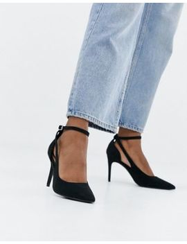 New Look Suedette Pointed Pumps In Black by New Look