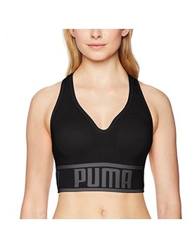 Puma Women's Seamless Sports Bra, Black, M by Puma