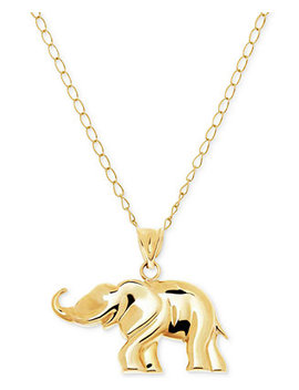 Elephant Pendant Necklace In 10k Gold by Macy's