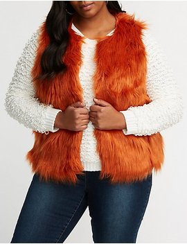 Plus Size Faux Fur Jacket by Charlotte Russe