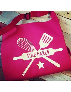 Star Baker Apron/Apron/Baking Apron/Great British Bake Off Apron/Mothers Day Gift/Baking Gift/Cooking Gift/Gift For Mum/Baking Gift/Mum by Etsy