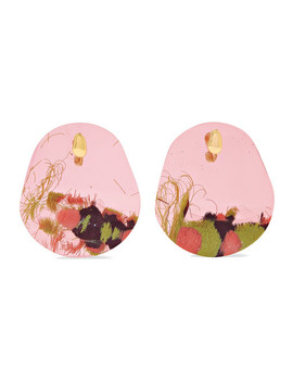 Caro Resin And Gold Plated Clip Earrings by Ejing Zhang