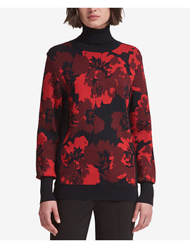 Printed Turtleneck Sweater, Created For Macy's by Dkny