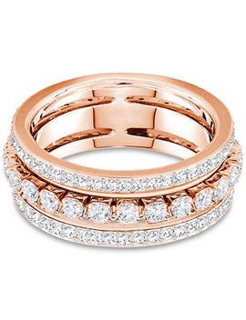 Crystal Triple Row Ring by Swarovski