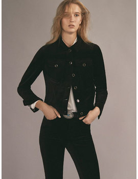 Black Velvet Jacket by Massimo Dutti