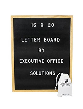 16x20 Changeable Letter Board   Black With Solid Oak Frame, Wall Mount, Canvas Bag, And 290 Characters   By Executive Office Solutions by Executive Office Solutions