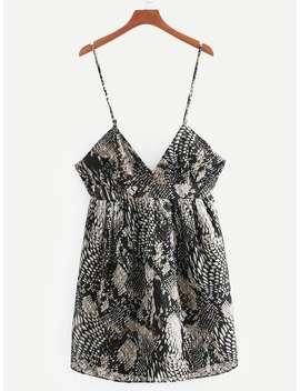 Snakeskin Print Cami Dress by Sheinside
