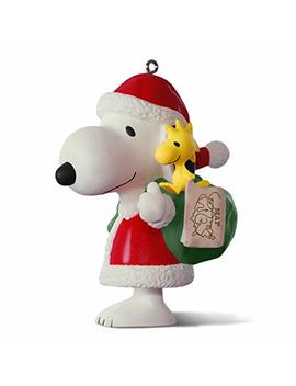 Hallmark Keepsake 2017 Peanuts Spotlight On Snoopy 20th Anniversary Porcelain Christmas Ornament by Hallmark