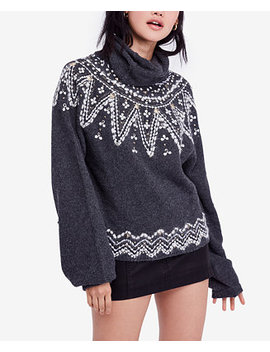Treasure Fair Isle Cowl Neck Sweater by Free People