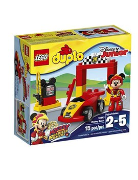 Lego Duplo Brand Disney 6174752 Mickey Racer 10843 Building Kit (15 Piece) by Lego