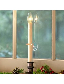 Plow & Hearth Suction Cup Window Flameless Candle With Auto Timer by Plow & Hearth