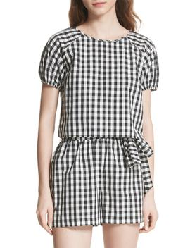 Cirila Gingham Cotton Top by Joie