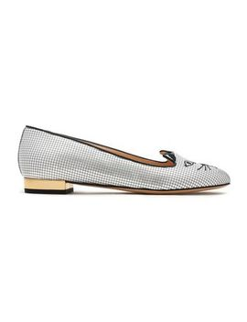 Metallic Embellished Loafers by Charlotte Olympia